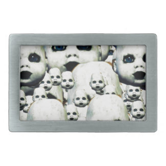 scary little doll face haunted doll products belt buckles