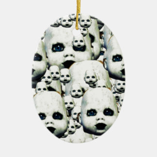scary little doll face haunted doll products christmas ornament