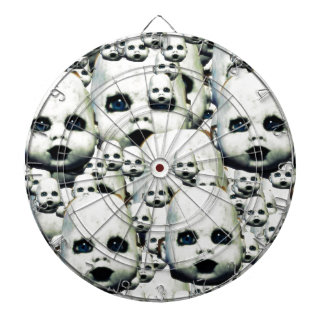 scary little doll face haunted doll products dartboard