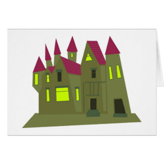Scary Mansion Greeting Card