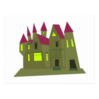 Scary Mansion Postcard