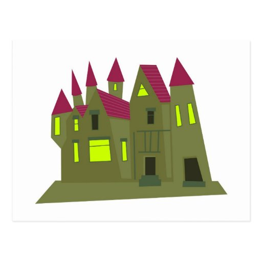 Scary Mansion Post Card
