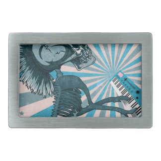 Scary Monster Doll Rectangular Belt Buckles