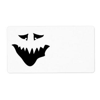 Scary Monster Face. Black.