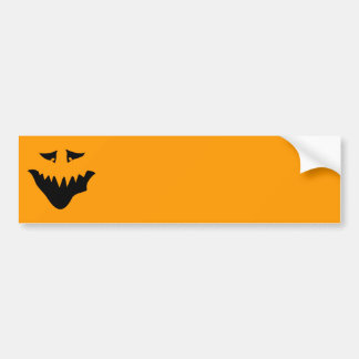 Scary Monster Face. Black. Bumper Sticker