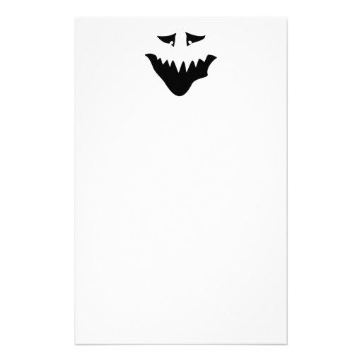 Scary Monster Face. Black. Personalized Stationery