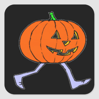 Scary Pumkin Square Sticker