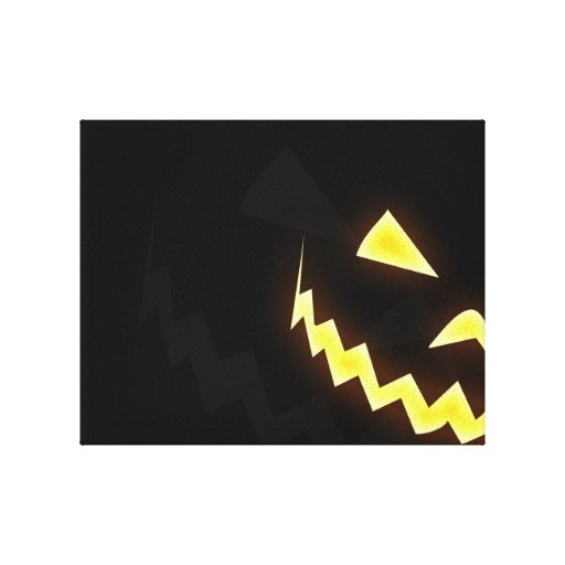scary pumpkin canvas prints