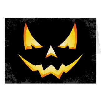 Scary Pumpkin Custom Halloween Greeting Card