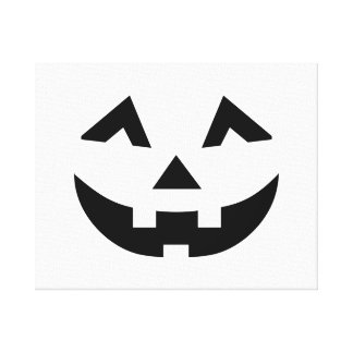 Scary pumpkin face gallery wrapped canvas