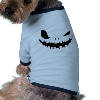 Scary Pumpkin Face in Black & White Dog Clothes