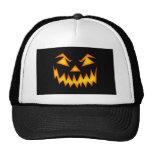 Scary Pumpkin Face Mesh Hat
