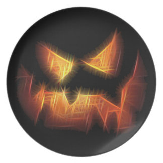 Scary Pumpkin Face Party Plates