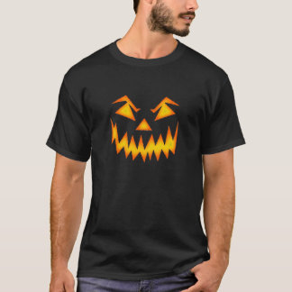 Scary Pumpkin Halloween Face T-Shirt