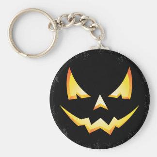 Scary Pumpkin Halloween Key Chain