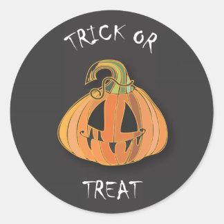Scary Pumpkin Halloween Sticker