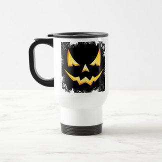 Scary Pumpkin Halloween Travel Mug