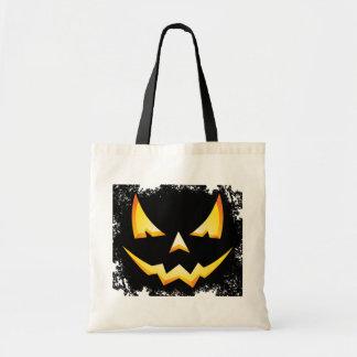 Scary Pumpkin Halloween Trick or Treat Bag