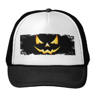Scary Pumpkin Halloween Trucker Hat