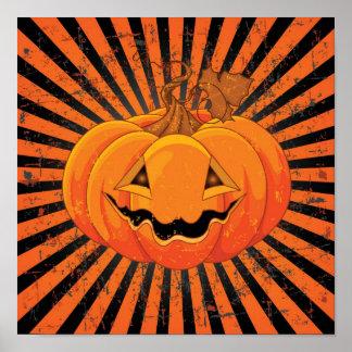 Scary Pumpkin Jack O' Lantern Poster