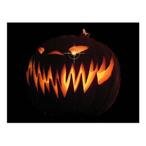 Scary Pumpkin Postcard