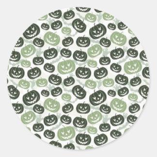Scary Pumpkins Round Sticker