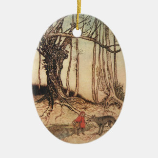 Scary Red Riding Hood Christmas Ornament