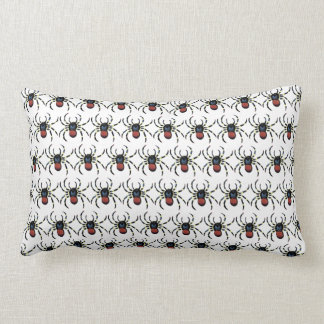 scary red spider Throw pillow