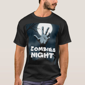 Scary Rising dead zombies night Halloween T-Shirt
