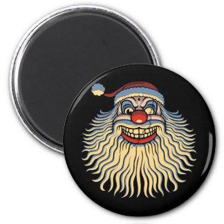 Scary Santa Clown 6 Cm Round Magnet