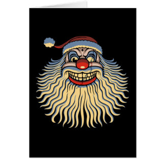 Scary Santa Clown Card