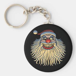 Scary Santa Clown Key Ring