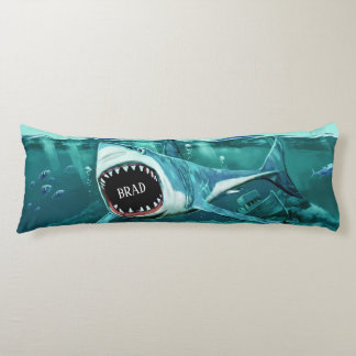 Scary Shark custom name body pillow