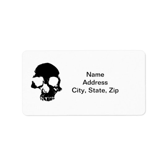 Scary skull address labels
