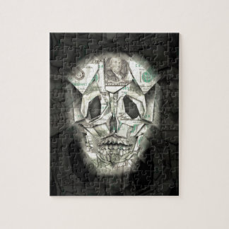 Scary Skull Black Jigsaw Puzzle
