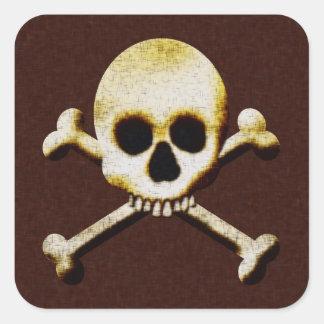 Scary Skull Crossbones Poison Halloween Sticker