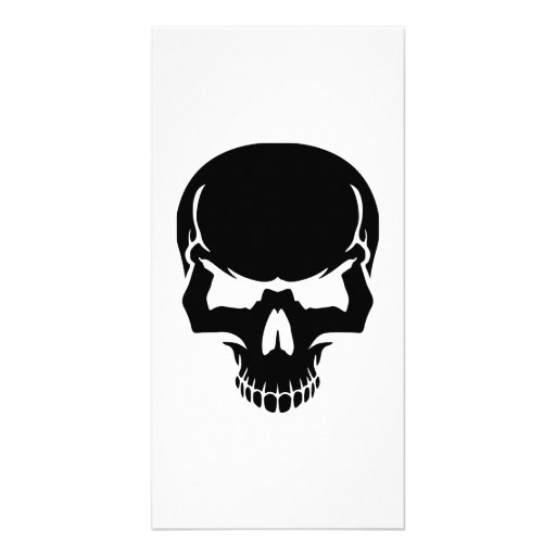 Scary skull face photo cards