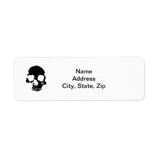 Scary skull Halloween return address labels