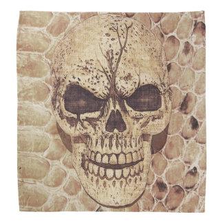 Scary skull on snakeskin bandannas