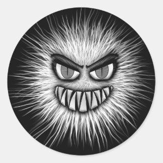 Scary Snowman Classic Round Sticker