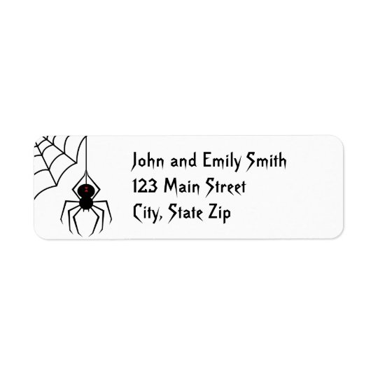 Scary Spider Return Address Labels