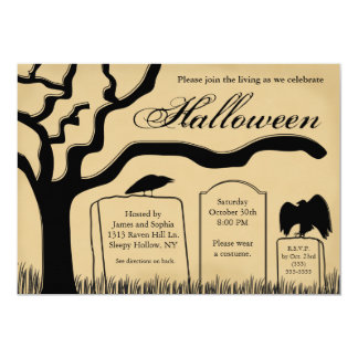 Scary Spooky Halloween Party Invitation