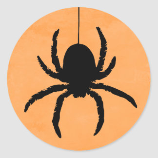 Scary Spooky Halloween Spider Favor Stickers