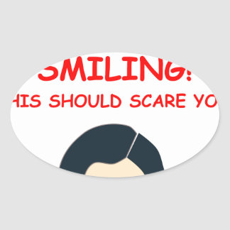 scary oval stickers