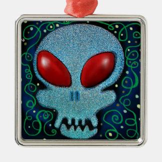Scary Sunday Skull Christmas Ornament