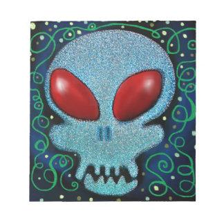 Scary Sunday Skull Notepad