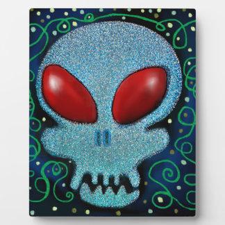 Scary Sunday Skull Plaque