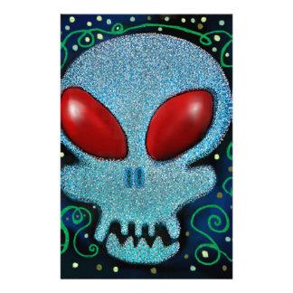 Scary Sunday Skull Stationery