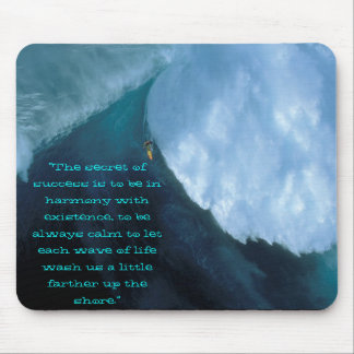 """scary surf, """"The secret of success is to be in ... Mouse Mat"""