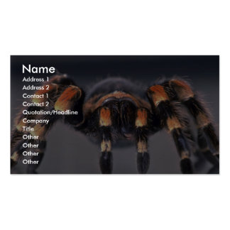 Scary Tarantula spider Business Cards
